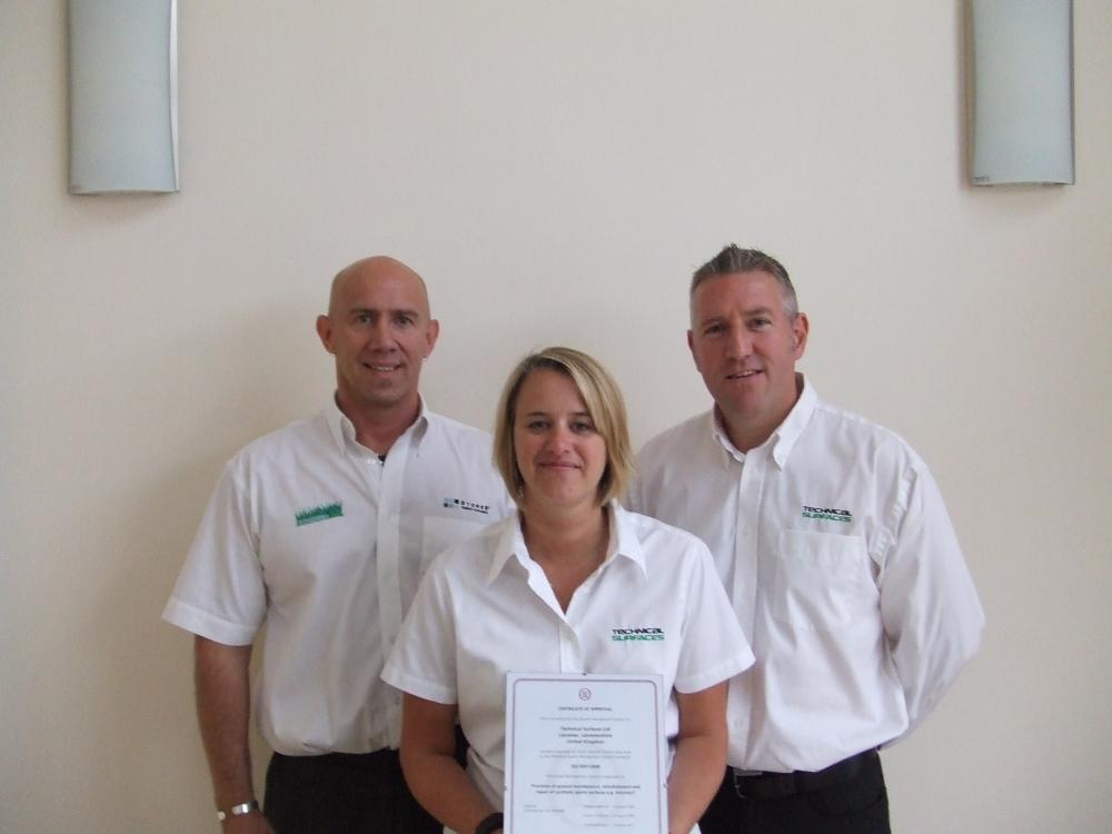 Technical Surfaces awarded ISO 9001:2008