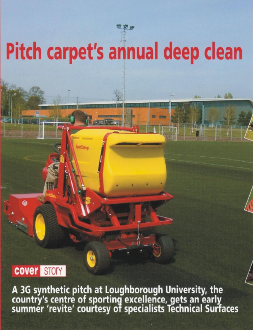 Synthetic Pitch Carpet's annual deep clean