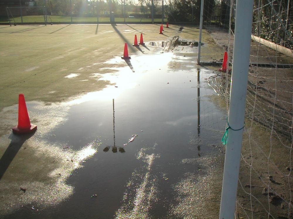 Has your artificial pitch flooded?
