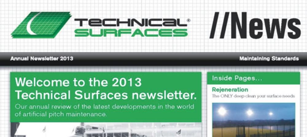 Technical Surfaces 2013 Newsletter