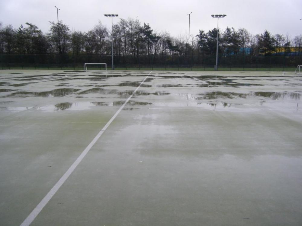 Standing water on your artificial sports pitch?